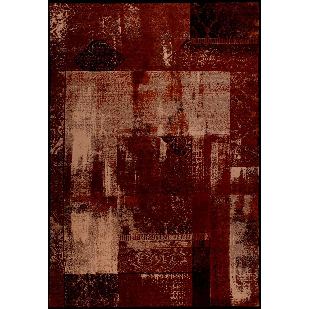 United Weavers Rome Red 5 ft. 3 in. x 7 ft. 6 in. Area Rug