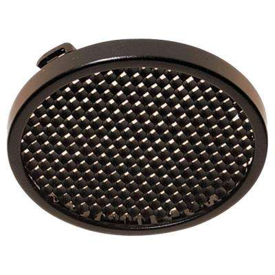 Ambiance 5 in. Antique Bronze Receseed Twist-On Painted Honey Comb Disk Light Trim