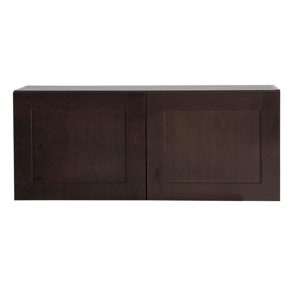 Cambridge Pantry Cabinets In Dusk: Hampton Bay Assembled 36x15x12 In. Easthaven Wall Cabinet