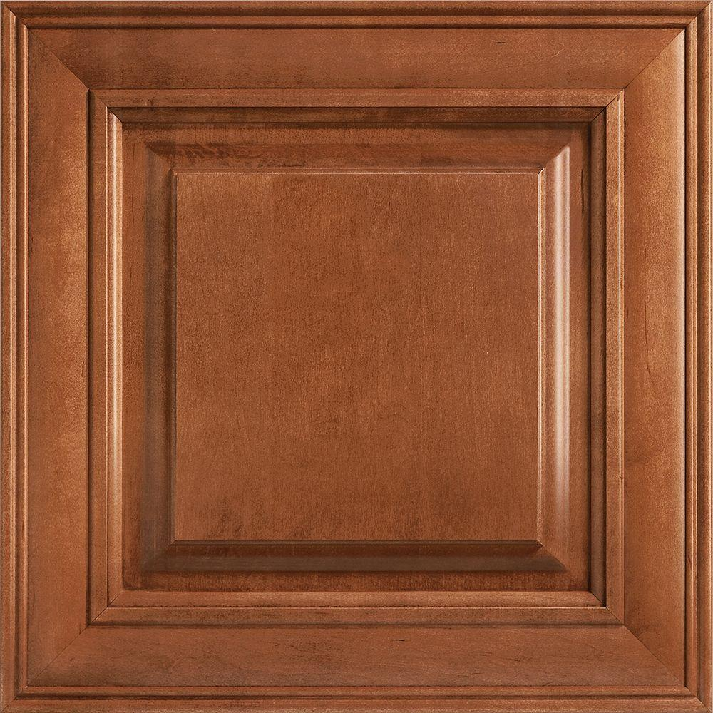 14-9/16x14-1/2 in. Cabinet Door Sample in Savannah Maple Cognac