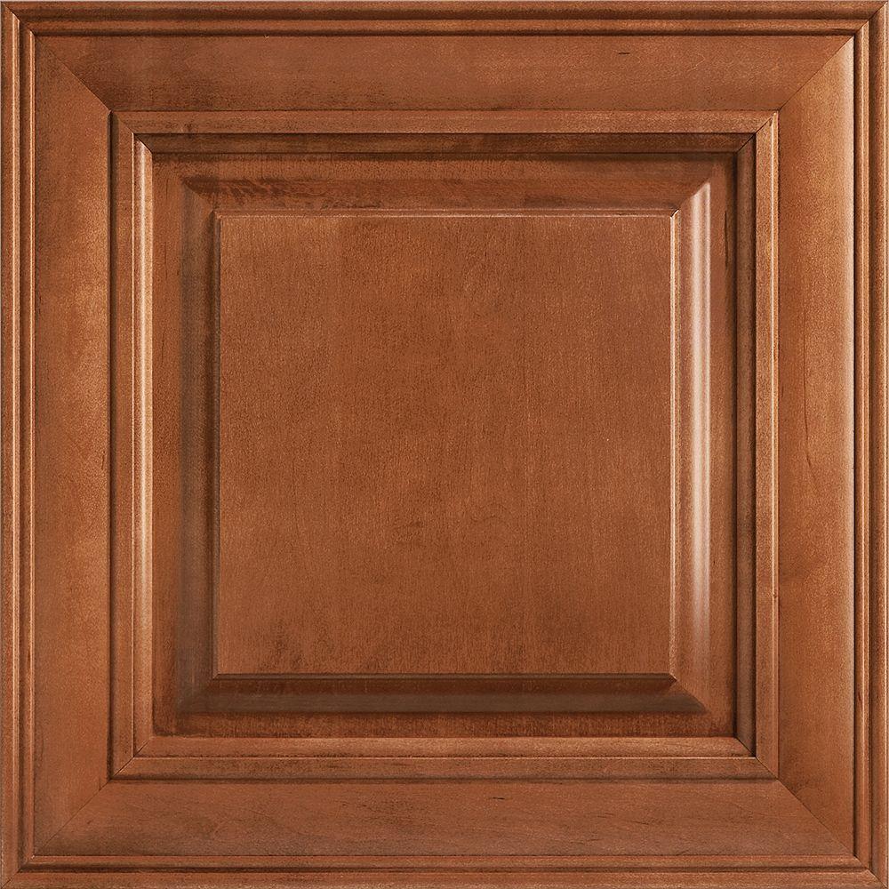 14-9/16x14-1/2 in. Cabinet Door Sample in Savannah Maple Cognac