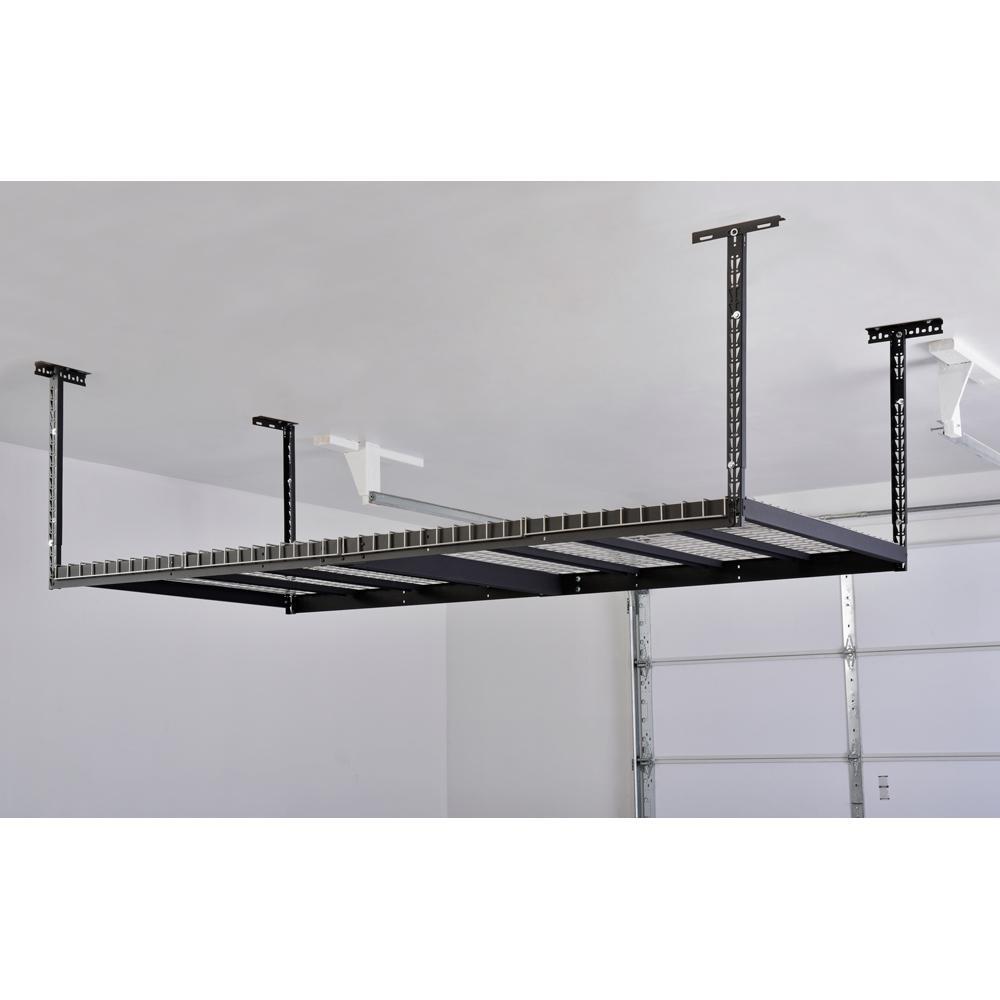 Diy Overhead Garage Shelf: Husky Overhead Ceiling Mount Storage Rack-ACR4896B