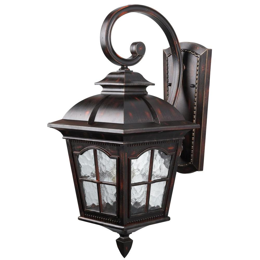 Canarm Madison 1 Light Rustic Bronze Outdoor Wall Lantern Sconce With Watermark Gl