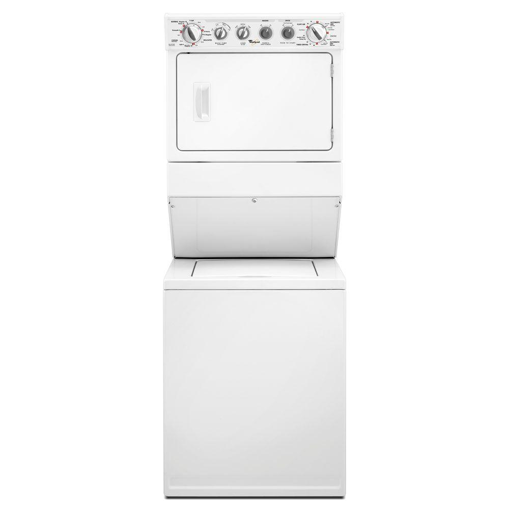 Whirlpool Thin Twin 2.5 cu. ft. Washer and 5.9 cu. ft. Gas Dryer in White