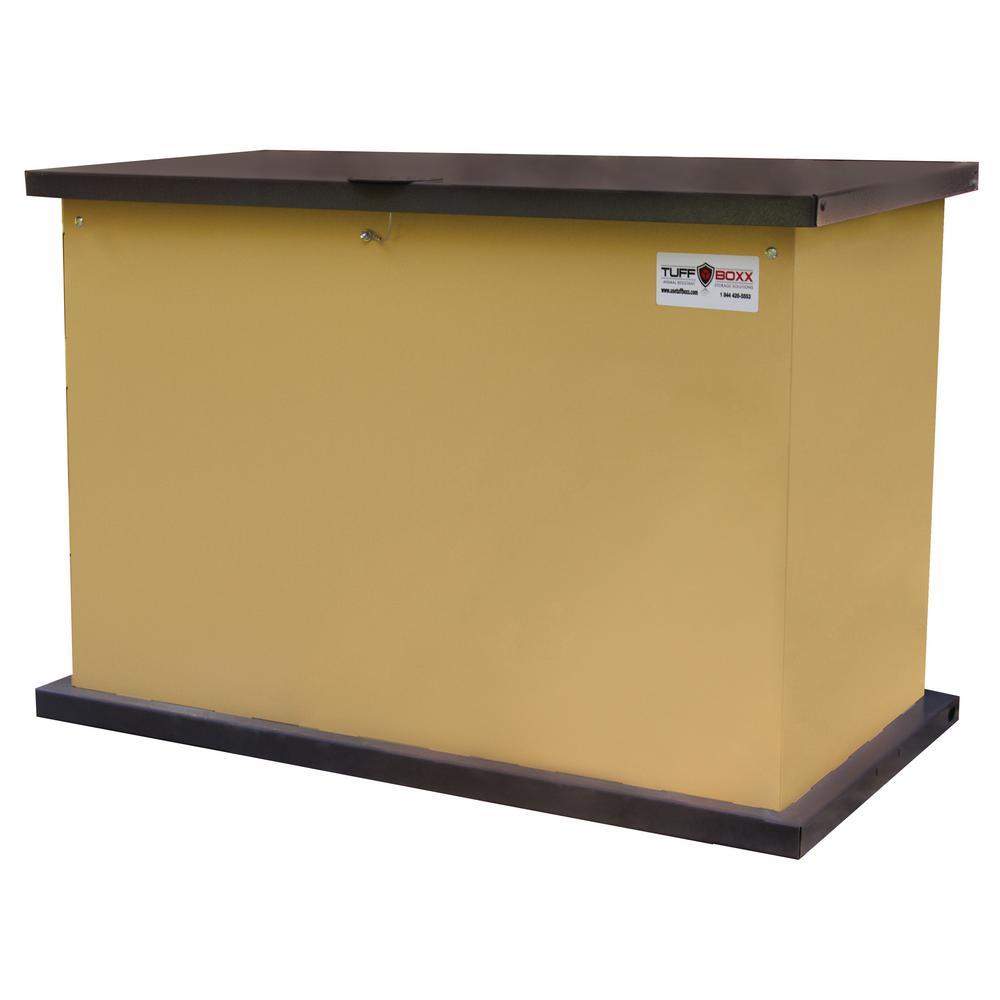TuffBoxx Series 137 GalGalvanized Metal Bear-Proof Storage Container in Tan