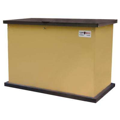 137 Gal. Secure Storage Solution Tan Galvanized Metal Animal Resistant Storage Container