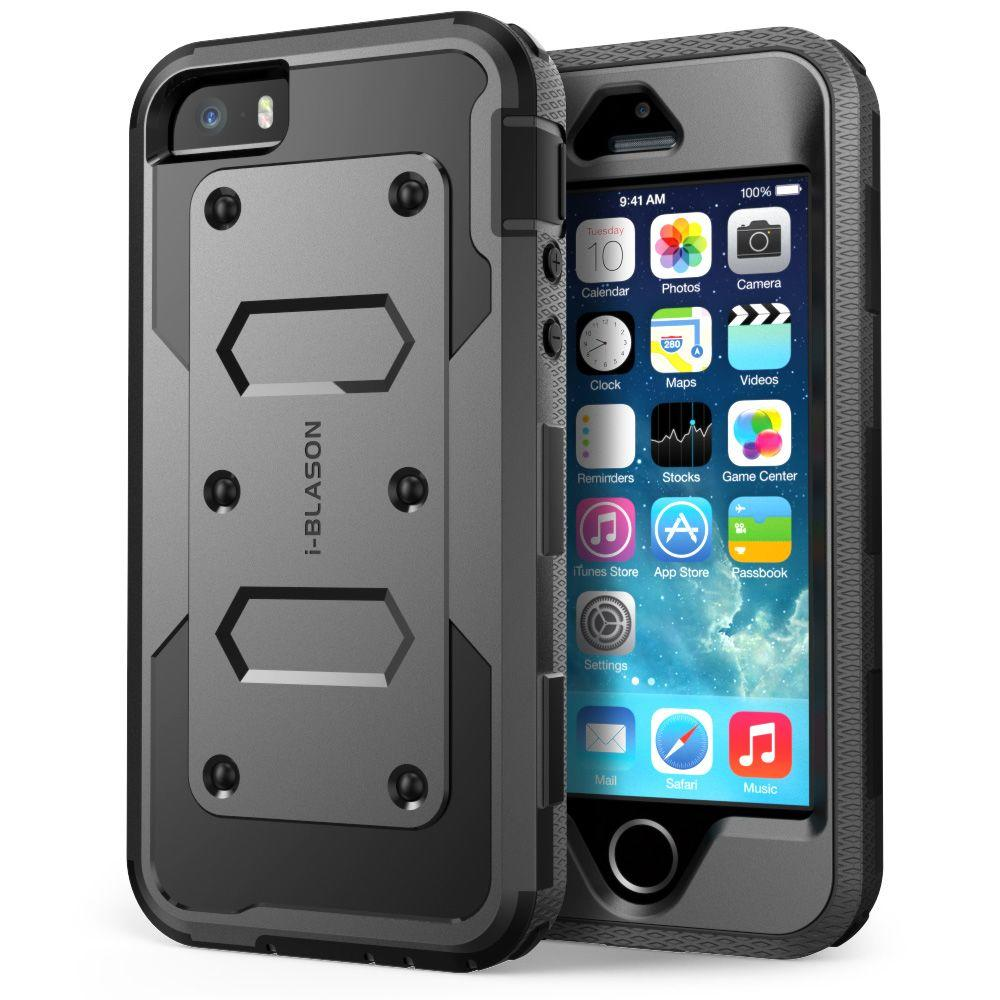 best loved c45ce 7db13 i-Blason Armorbox Full-Body Case for Apple iPhone 5S, Black