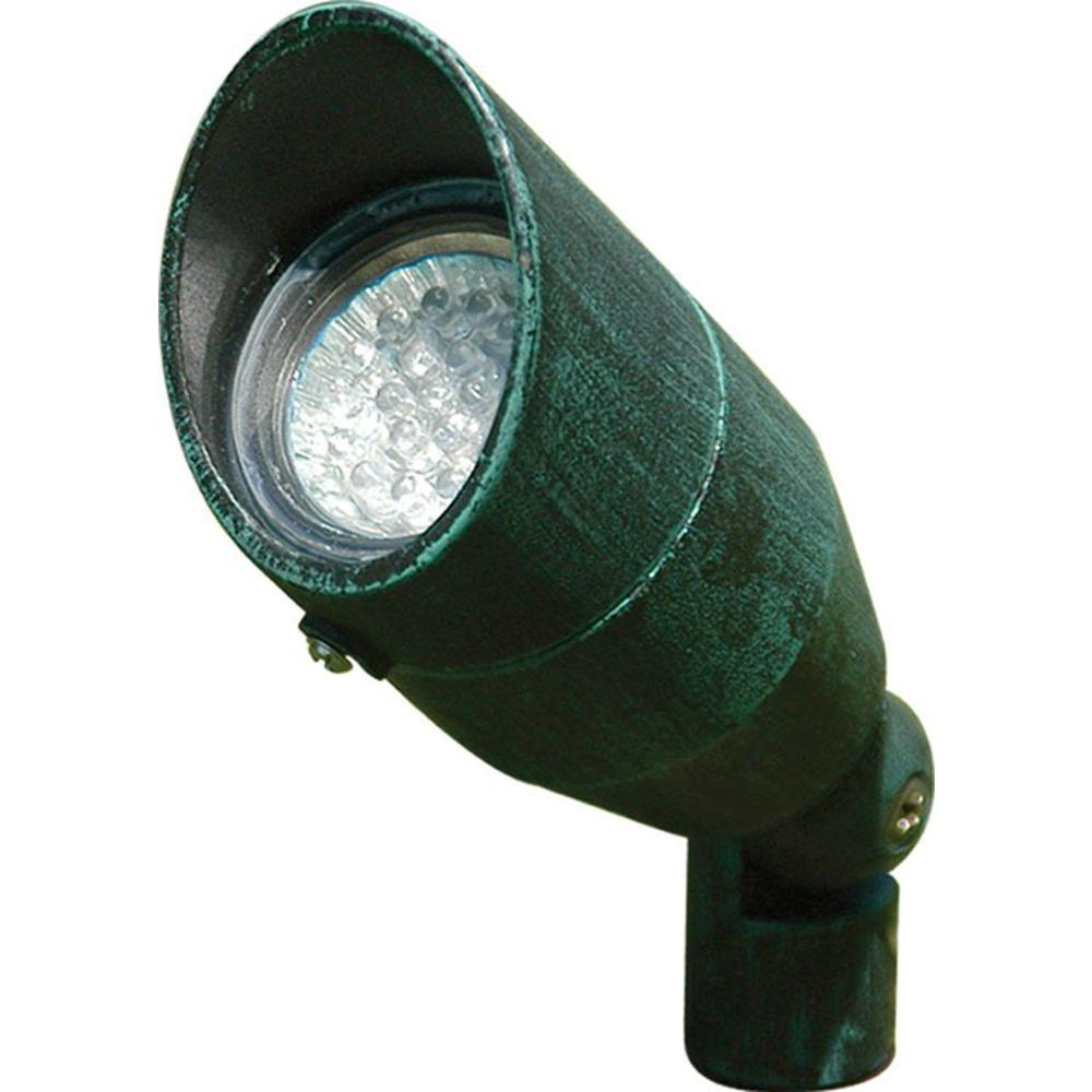Porch Light Green: Filament Design Skive 3-Light Verde Green Outdoor LED Spot