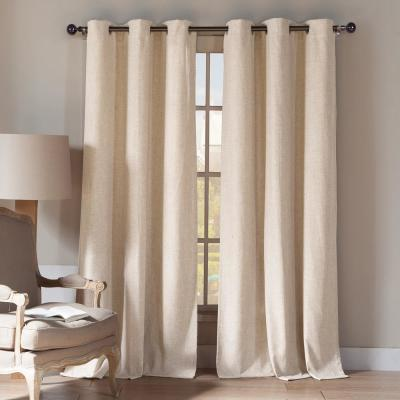 Keighley 96 in. L x 54 in. W Curtain Panel in Linen (2-Pack)