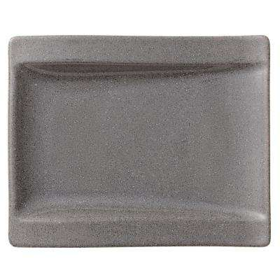 New Wave Gray Stone Porcelain Appetizer Plate