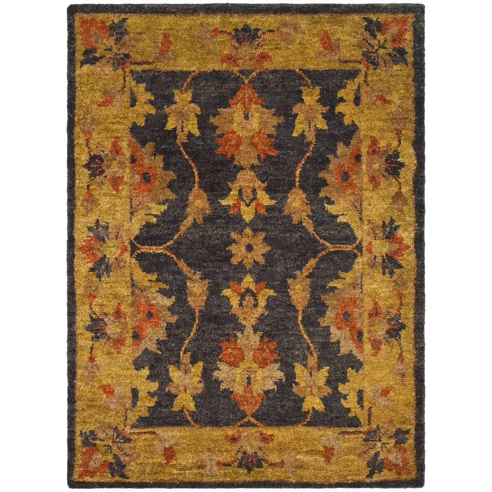 Safavieh Bohemian Charcoal/Gold 6 ft. x 9 ft. Area Rug