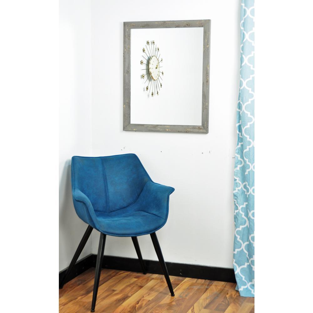 BrandtWorks Madame Gray Gold Leaf Wall Mirror BM050L3