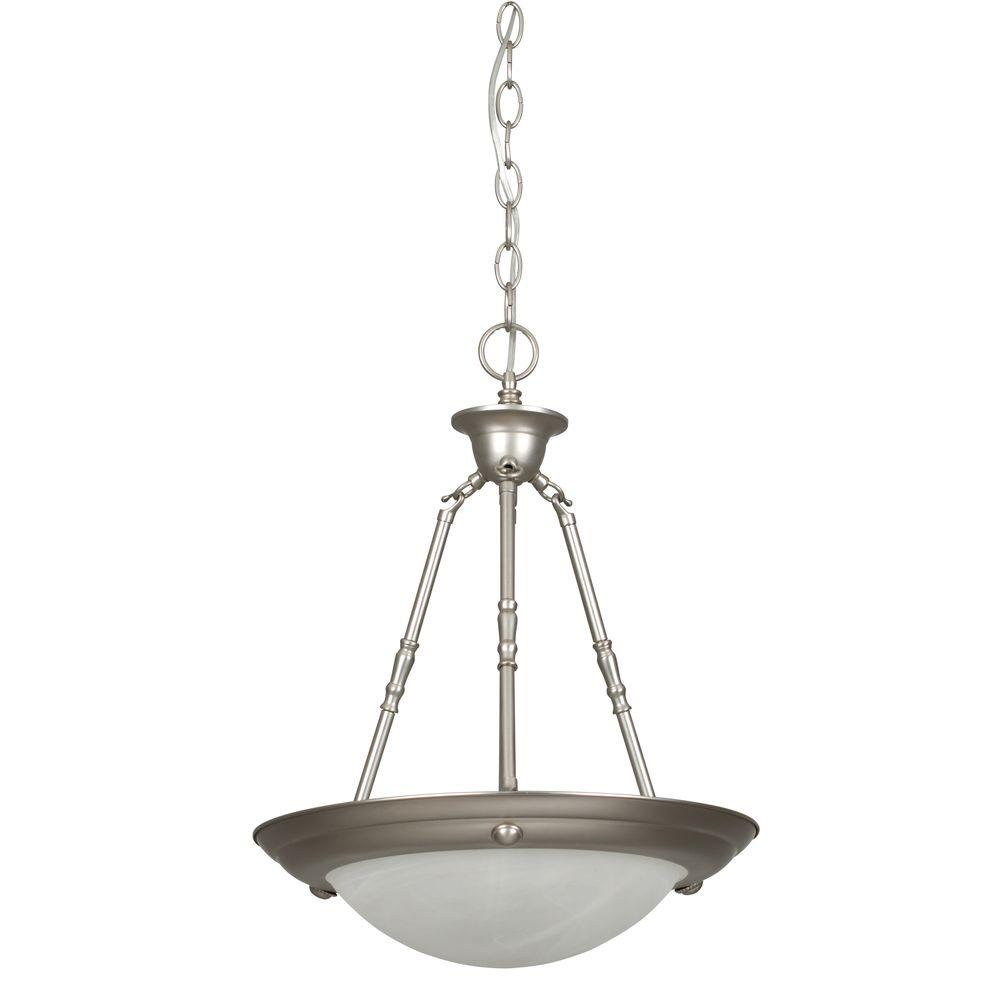 Luminance 2 Light Satin Nickel Bowl Pendant
