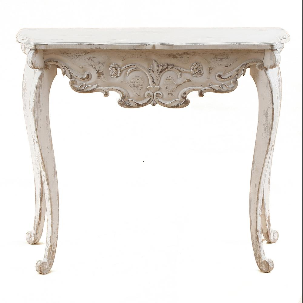 Wood Vintage Console & Entry Table