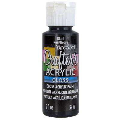 2 oz. Black Gloss Crafter's Acrylic Paint