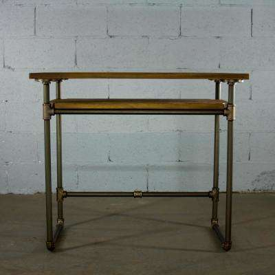 Brushed Brass Industrial Pipe Desk ...