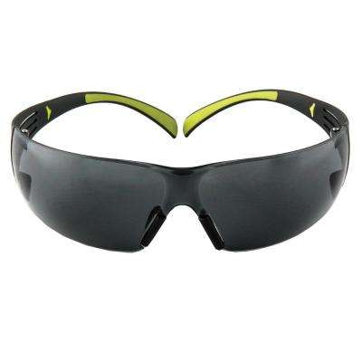 SecureFit 400 Black/Neon Green Frame with Gray Anti-Fog Lenses Safety Glasses (Case of 6)