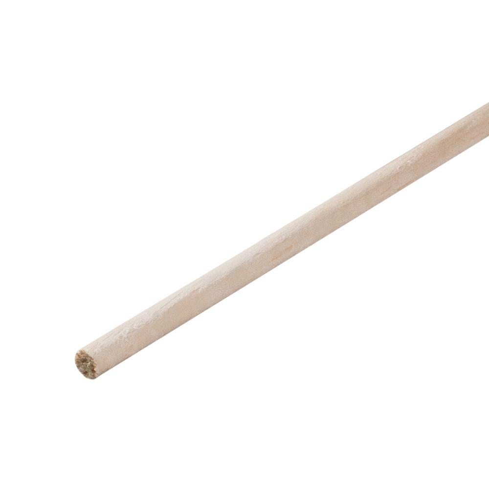 1/4 in. x 48 in. Wood Round Dowel
