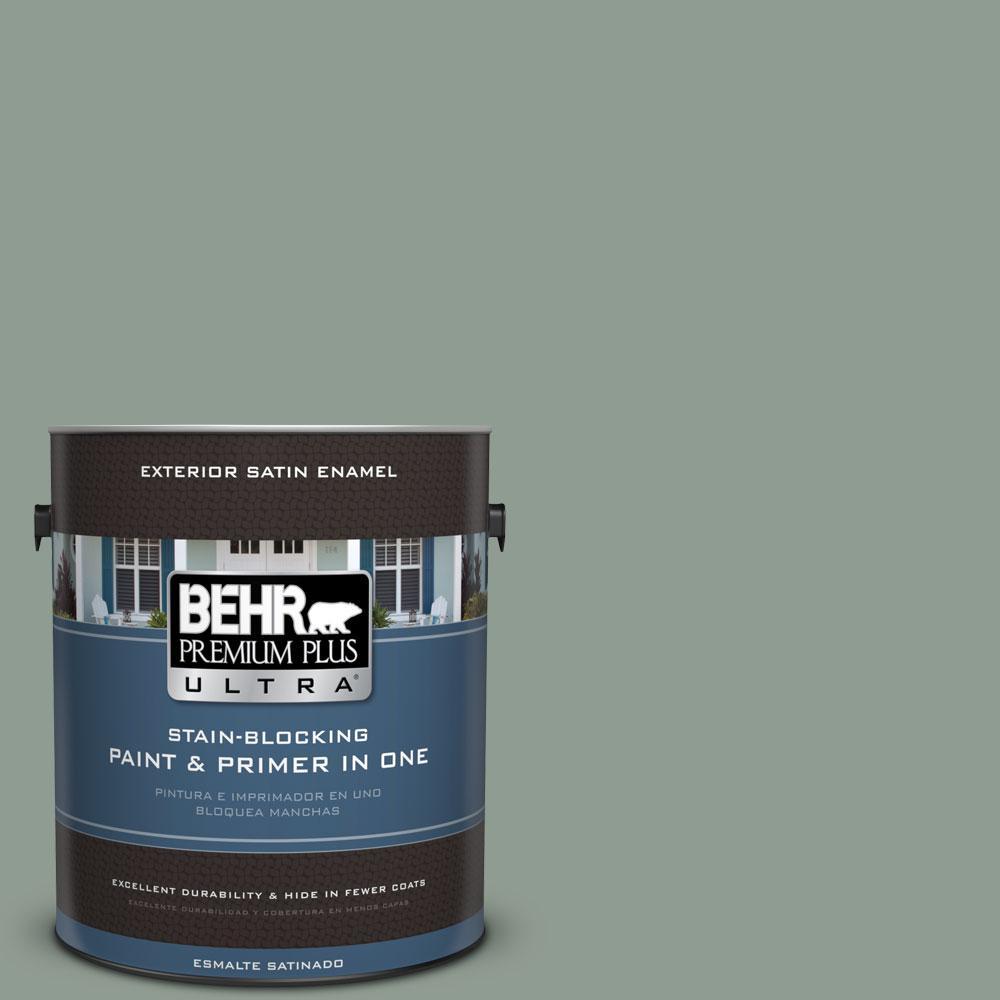 BEHR Premium Plus Ultra 1-gal. #ICC-104 Balsam Fir Satin Enamel Exterior Paint