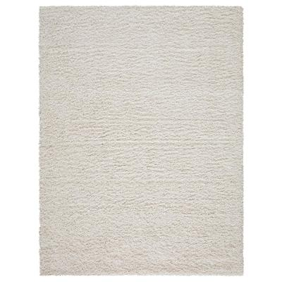 Contemporary Solid Beige 5 ft. x 7 ft. Shag Area Rug