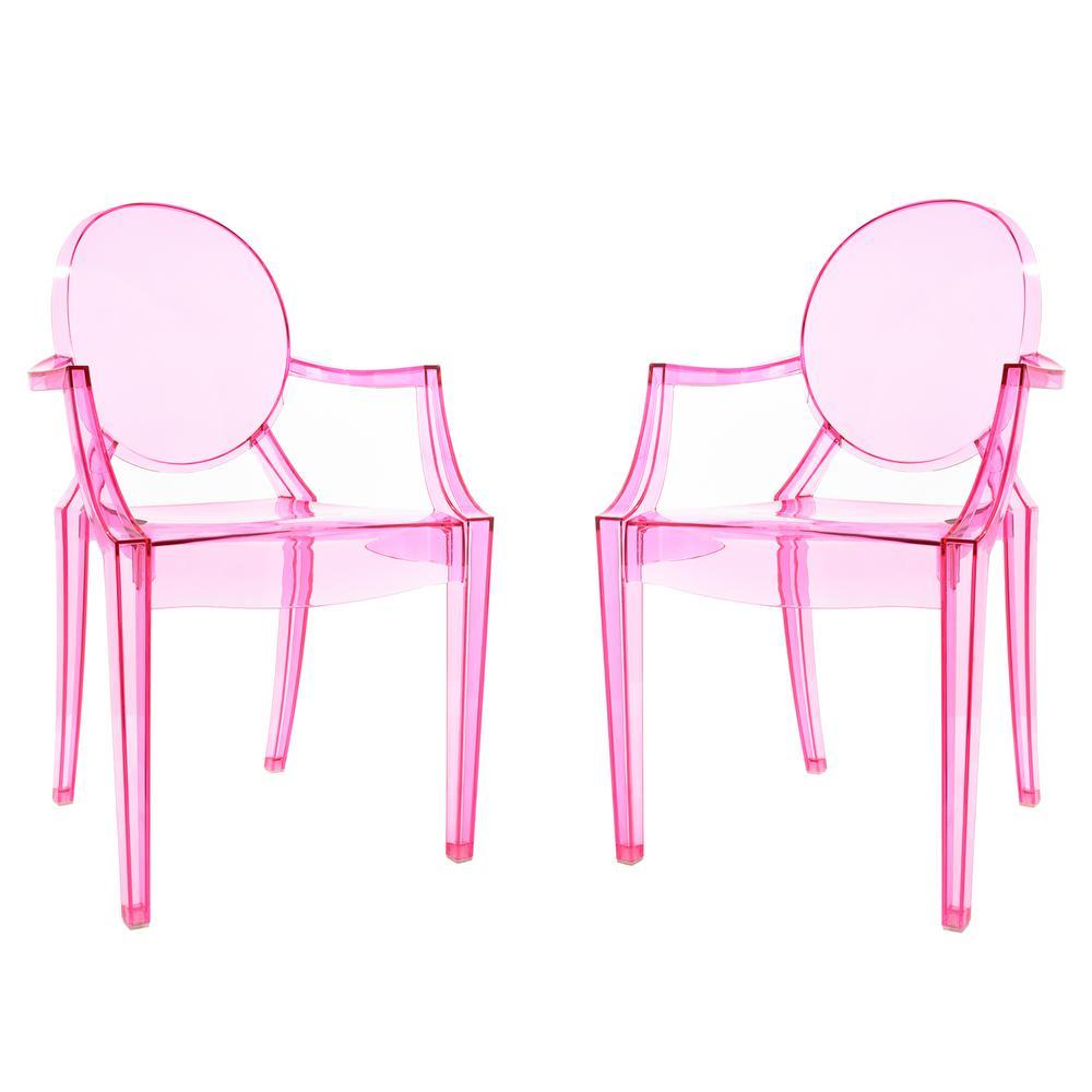 Burton Pink Arm Chair (Set of 2)