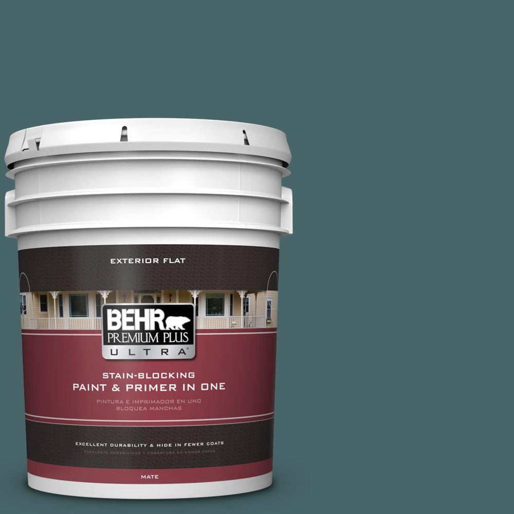 5-gal. #500F-7 Mythic Forest Flat Exterior Paint