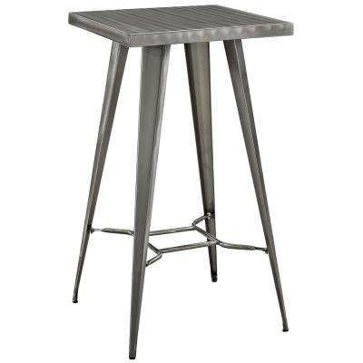 Direct Metal Bar Table in Gunmetal