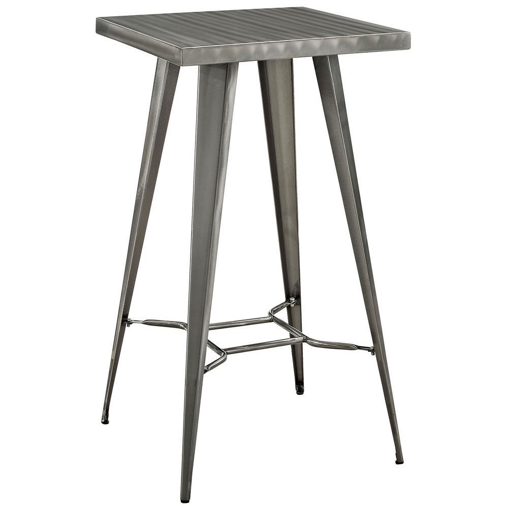 MODWAY Direct Metal Bar Table in Gunmetal EEI-2037-GME