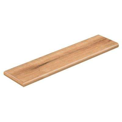 Fresh Oak 94 in. L x 12-1/8 in. D x 1-11/16 in. H Vinyl Left Return to Cover Stairs 1 in. Thick