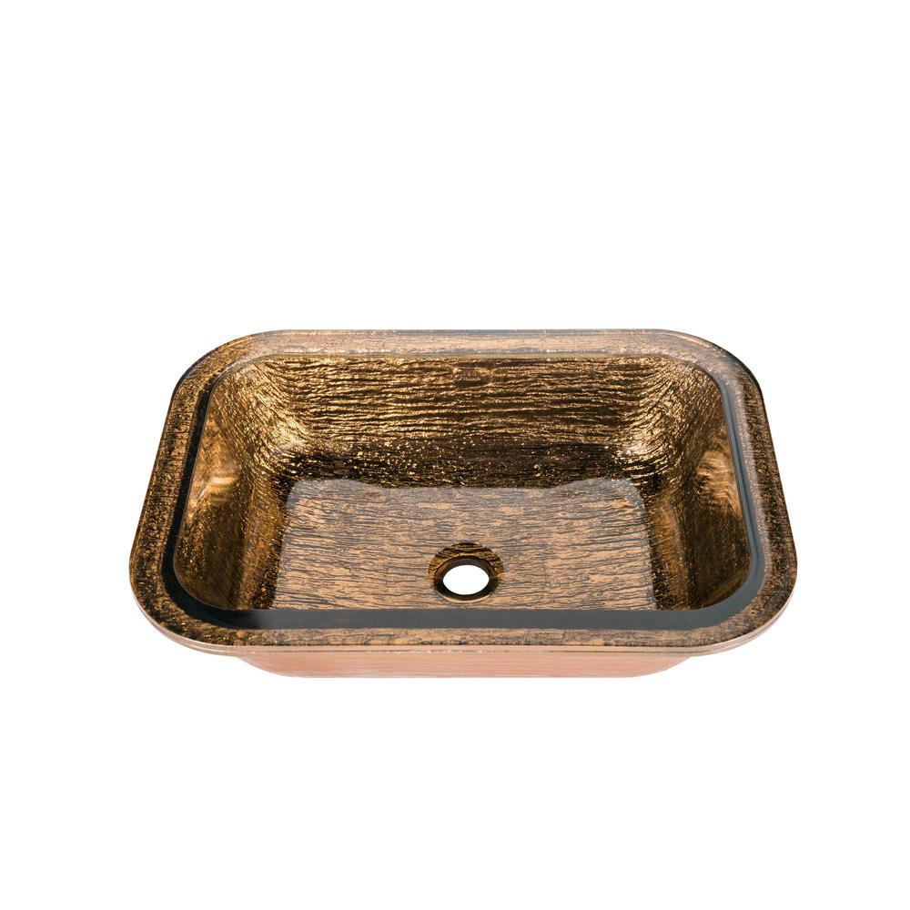 Oasis Rectangle Undermount in Cobalt Copper