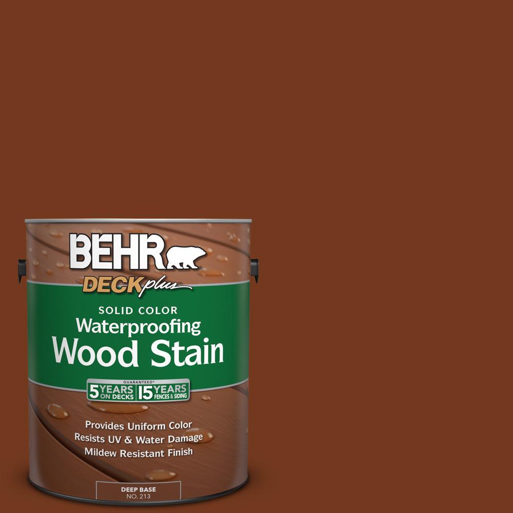BEHR DECKplus 1 gal. #SC-116 Woodbridge Solid Color Waterproofing Wood Stain