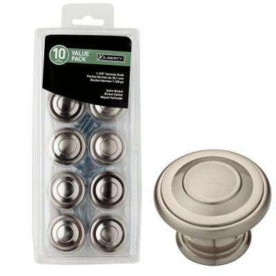1-3/8 in. Satin Nickel Harmon Cabinet Knob (10-Pack)