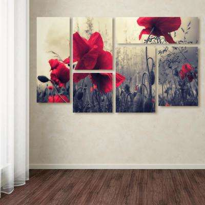 "28 in. x 47 in. ""Red For Love"" by Philippe Sainte-Laudy Printed Canvas Wall Art"