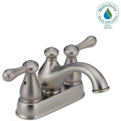 Leland 4 in. Centerset 2-Handle Bathroom Faucet in Stainless
