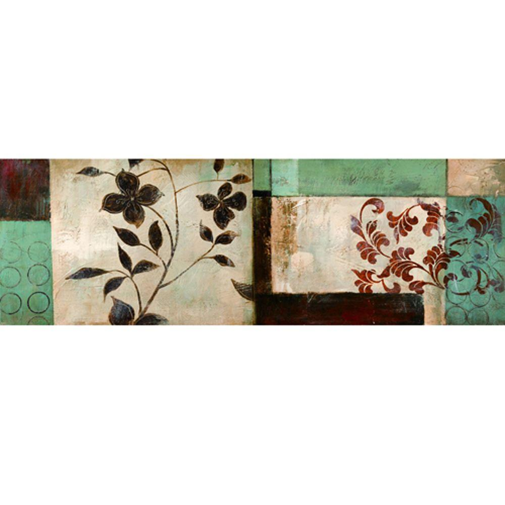 Yosemite Home Decor 59 in. x 20 in. Pressed Flowers II Hand Painted Contemporary Artwork