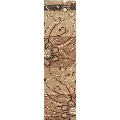 Fremont Tan 3 ft. x 12 ft. Runner Rug