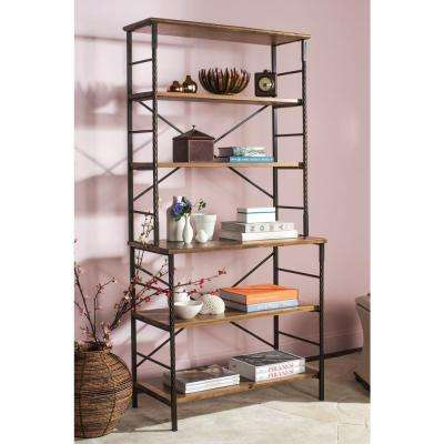 Brooke Walnut Open Bookcase