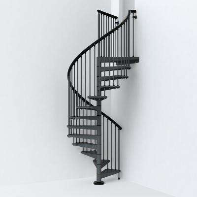 SKY030 55 in. Iron Grey Spiral Staircase Kit