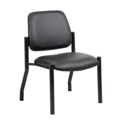 Antimicrobial Black Armless Guest Chair