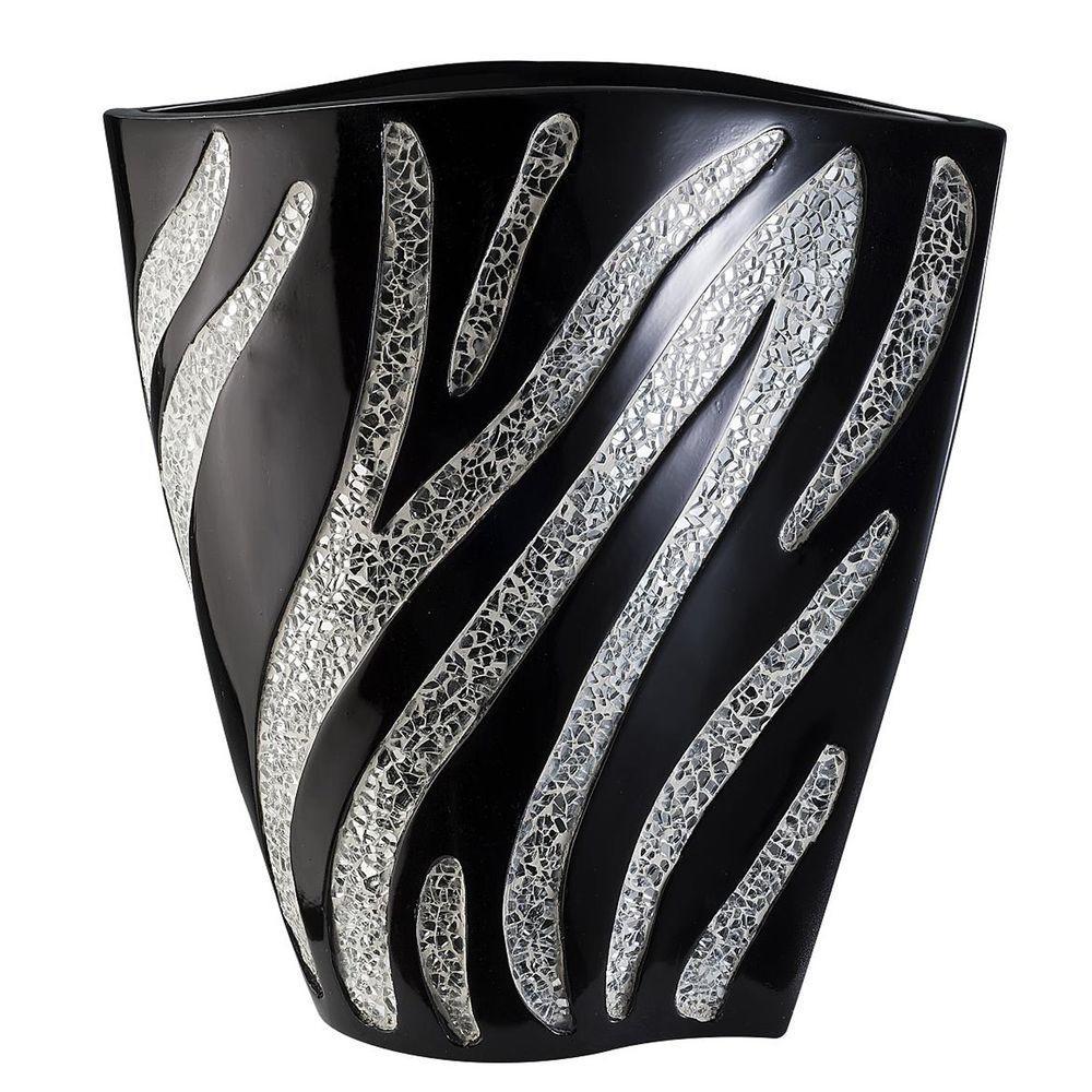 ORE International 14 in. H Zebra Print Decorative Vase