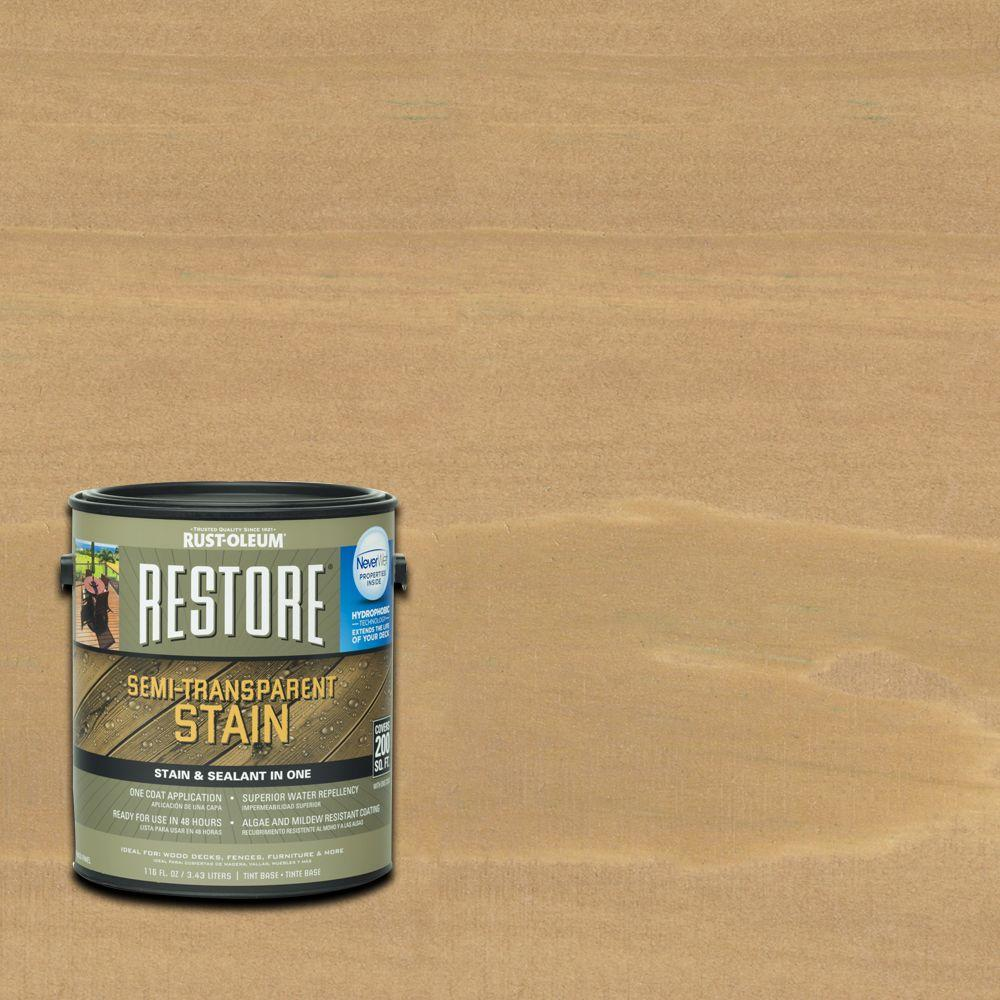 1 gal. Semi-Transparent Stain Buckskin with NeverWet