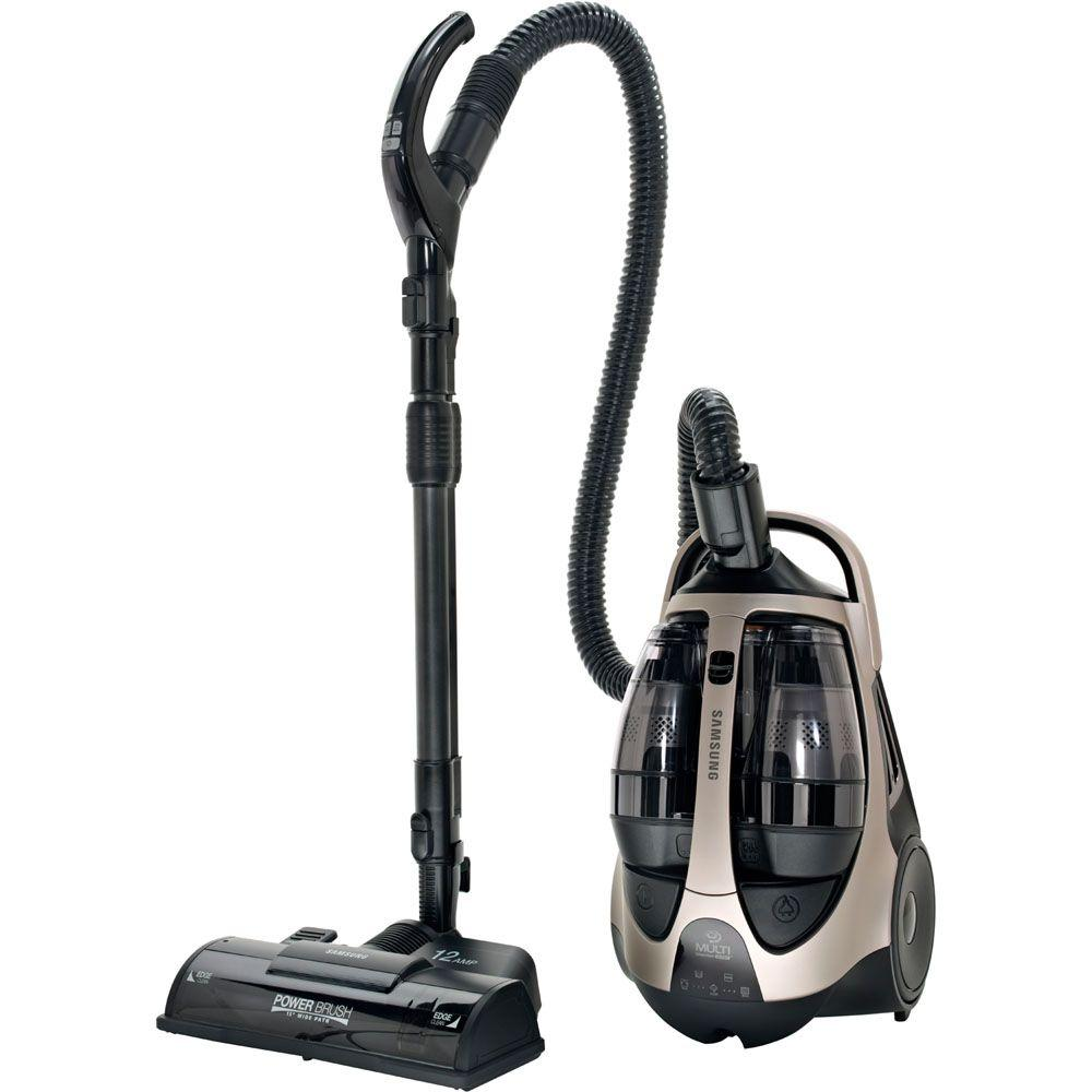 Samsung Super MultiChamber Canister Vacuum System with 15 in. PowerBrush and Mini Turbo Brush in Champagne