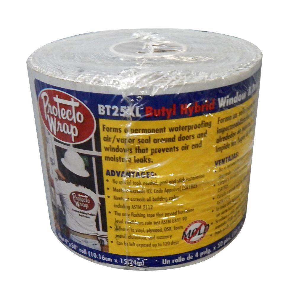 Protecto Wrap BT25XL 4 in. x 50 ft. Window and Door Sealing Tape