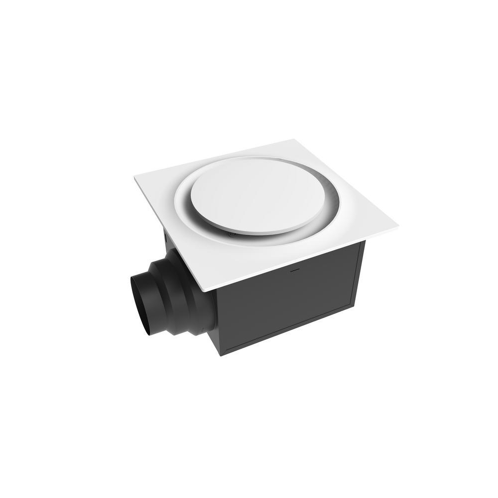 Aero Pure Low Profile 80 CFM Quiet Ceiling Bathroom Ventilation Fan 0.4 Sones White