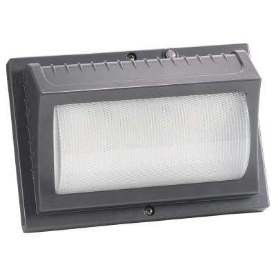22-Watt Titanium Gray Outdoor Integrated LED Wall Pack Light