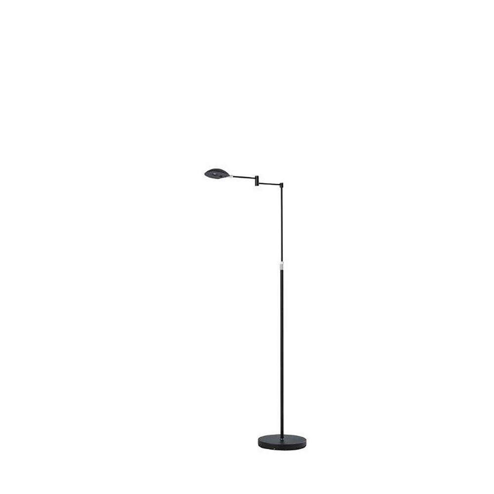 5a22ab1b51 ORE International Luna 37 in. - 50 in. Adjustable Satin Black LED Chrome  Studio