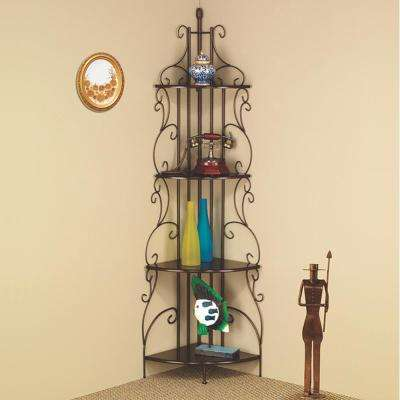 Laherty Copper Corner Bookcase