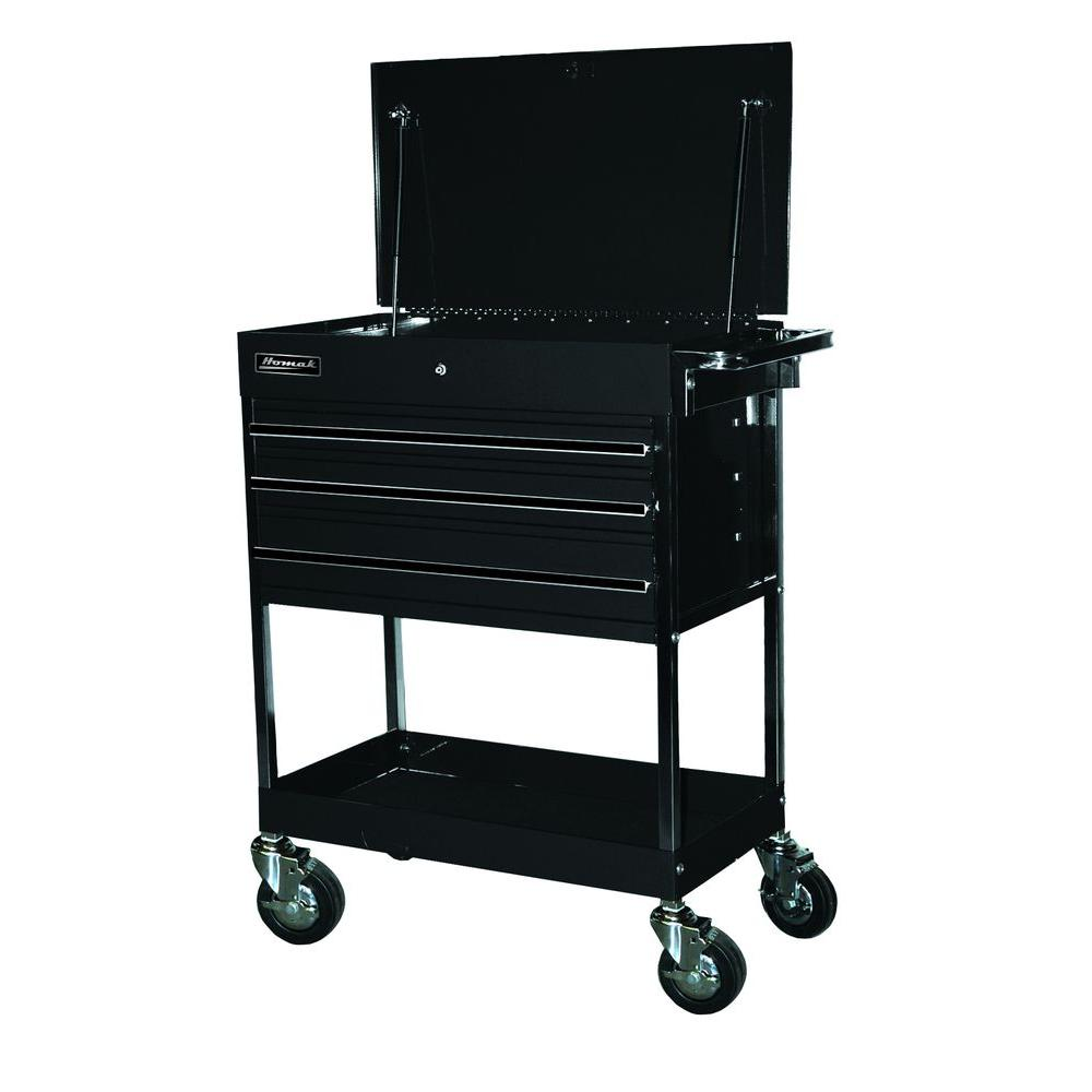 Homak Professional 34 in. 3-Drawer Utility Service Cart i...