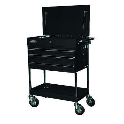 Professional 34 in. 3-Drawer Utility Service Cart in Black