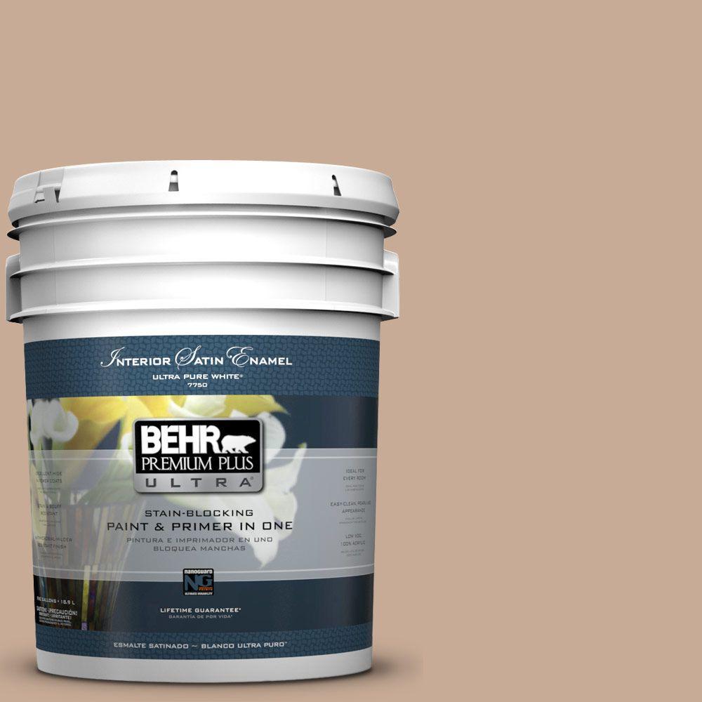BEHR Premium Plus Ultra 5-gal. #S220-3 Sanderling Satin Enamel Interior Paint